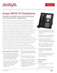 Avaya 9611G IP Deskphone - Sofos