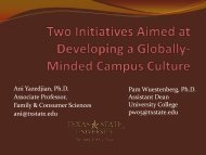 Infusing Global Perspectives into the Curriculum - Hispanic ...