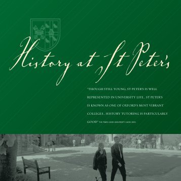 History mailer 2 - St Peter's College