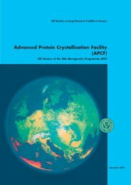 Advanced Protein Crystallisation Facility (APCF) - European ...