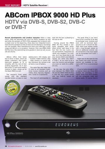 ABCom IPBOX 9000 HD Plus - TELE-satellite International Magazine