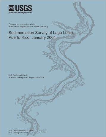 Sedimentation Survey of Lago Loíza, Puerto Rico ... - Caribbean