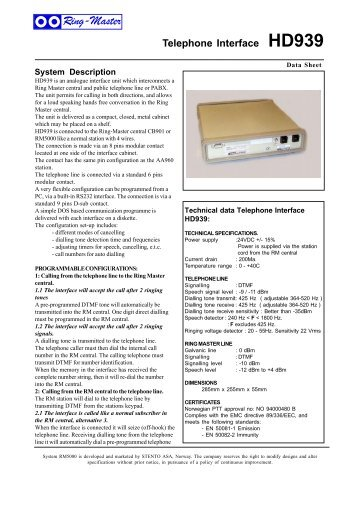 Data Sheet Pro700_all - TELECOM systems bv