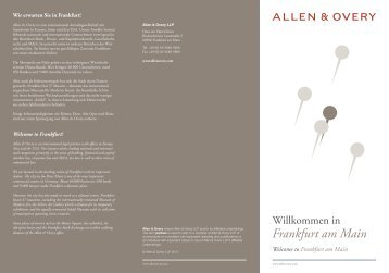 Frankfurt am Main Broschüre - Allen & Overy