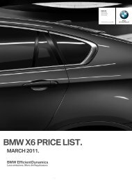 BMW X6 PRICE LIST.