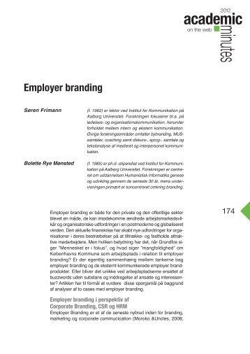 Employer branding • Søren Frimann og Bolette Rye Mønsted
