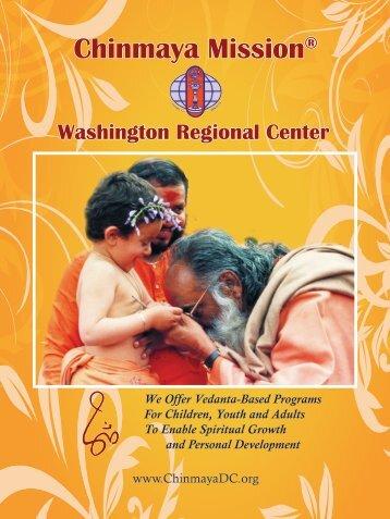 CMWRC Brochure - Chinmaya Mission Washington Regional Center