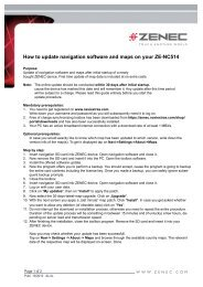 How to update navigation software and maps on your ZE ... - Zenec