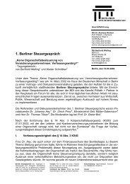 Tagungsbericht 1. Berliner Steuergespräch (PDF-Format)