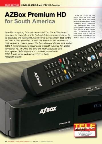 AZBox Premium HD - TELE-satellite International Magazine