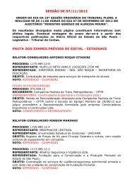 sessão de 07/11/2012 pauta dos exames prévios de edital - estaduais