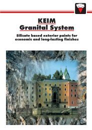 KEIM Granital System - KeimPaintsCanada