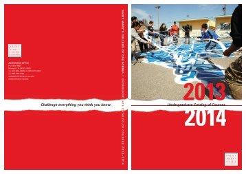 2013-2014 Catalog - Saint Mary's College of California