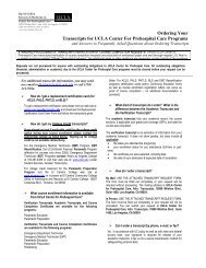 Transcripts for UCLA Center For Prehospital Care Programs and ...