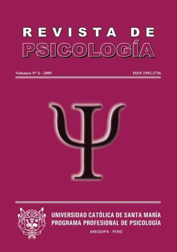 Revista de Psicología UCSM Volumen N° 6 - Universidad Católica ...