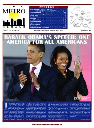 barack obama's speech - The Metro Herald