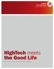 HighTech meets the Good Life - TechnologieRegion Karlsruhe