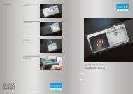 Spülen und Becken: Produktübersicht 2011 - Suter Inox AG