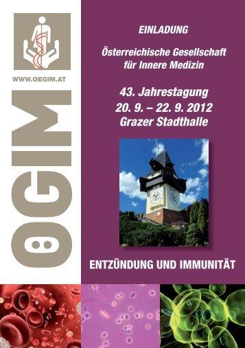 43. Jahrestagung 20. 9. – 22. 9. 2012 Grazer Stadthalle