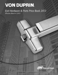 Exit Hardware & Parts Price Book 2013 - Top Notch Distributors, Inc.