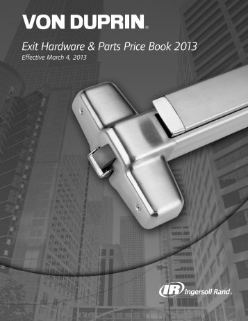 Exit Hardware & Parts Price Book 2013 - Top Notch Distributors, Inc.