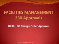 U234 PO Change Order Approval - Facilities Management