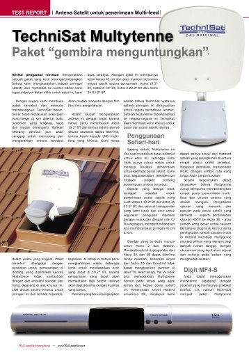 TechniSat Multytenne - TELE-satellite International Magazine