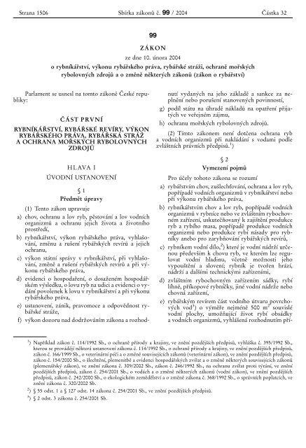 Zákon o rybářství (PDF)