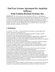 Analytica License Agreement - Lumina Decision Systems