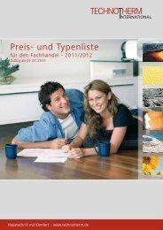 Preis- und Typenliste - Technotherm