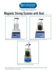 Magnetic Stirring Systems with Heat - Rio Grande