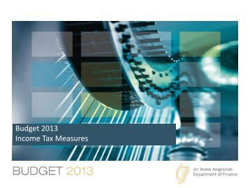 Budget 2013 Income Tax Measures