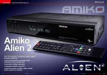 Amiko Alien 2 - TELE-satellite International Magazine