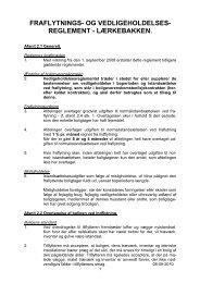 Vedligeholdelsesreglement for afd. 14 Lærkebakken