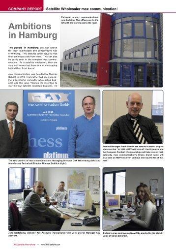 Ambitions in Hamburg - TELE-satellite International Magazine