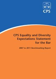 Equality and Diversity Benchmarking Report 2007-11 - Crown ...