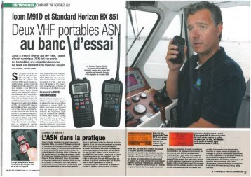 Article de presse IC-M91D Moteur Boat - Icom France