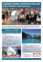 CANADIAN COWBOY ADVENTURE WITH COSI - Destination Canada