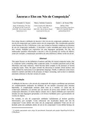 Âncoras e Elos em Nós de Composição - Telemidia - PUC-Rio