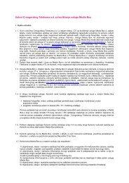 Uslovi Crnogorskog Telekoma a.d. za korišćenje usluge Media Box
