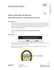 Recall Notice for ACCU-CHEK® Aviva Users - Children with Diabetes