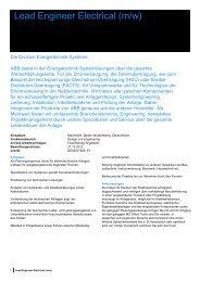 Lead Engineer Electrical (m/w) - Tag der Elektrotechnik und ...
