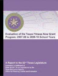Executive summary - Texas Education Agency