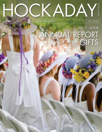 AnnuAl RePORt of giftS - The Hockaday School