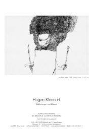 weitere Informationen: Faltblatt (PDF) - Galerie Zeisler