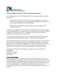 Local Anesthesia & Nitrous Oxide Continuing Education - Lake ...
