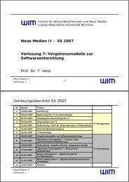 Vorgehensmodelle - Institut für Wirtschaftsinformatik und neue ...