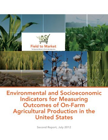 Field to Market (2012). Environmental and Socioeconomic Indicators