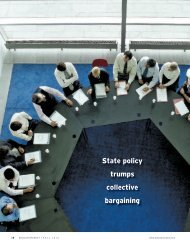 State policy trumps collective bargaining - Education Next