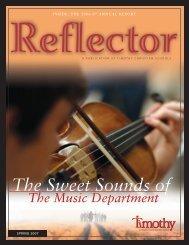 Reflector Spring 2007 - Timothy Christian Schools